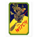 The Witch Vintage Halloween Post Cards