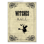 The Witches Ball Halloween Card
