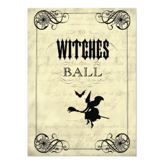 The Witches Ball Halloween Invites