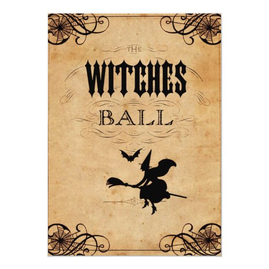 The Witches Ball Halloween Party Invitation