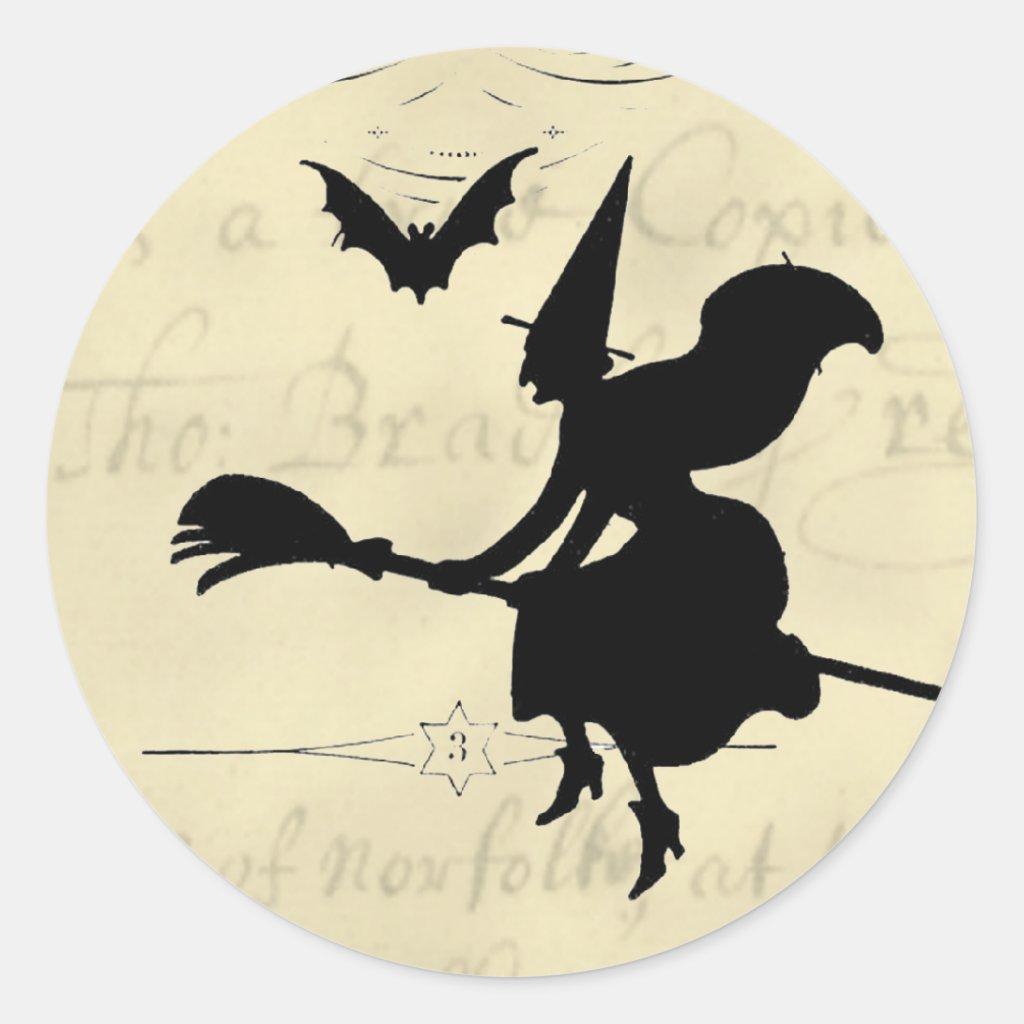 The Witches Ball Halloween Round Sticker