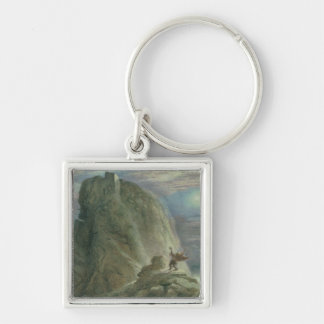 The Witches' Home No.2 Silver-Colored Square Keychain