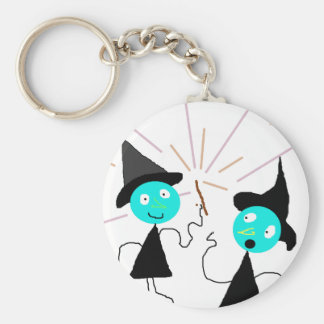 The Witches Line Basic Round Button Keychain