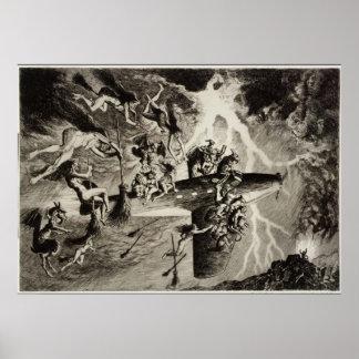 The Witches' Sabbath a la Mode Poster