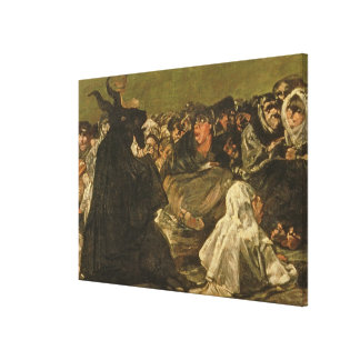 The Witches' Sabbath or The Great He-goat Stretched Canvas Prints