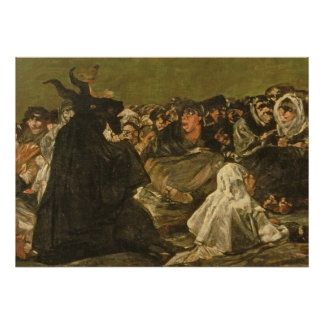 The Witches' Sabbath or The Great He-goat Poster