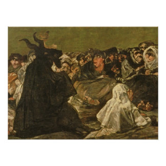 The Witches' Sabbath or The Great He-goat Perfect Poster