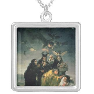 The Witches' Sabbath Square Pendant Necklace