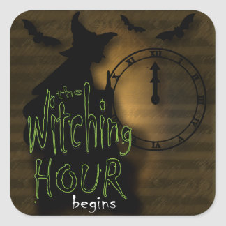 The Witching Hour Begins | Halloween Square Sticker