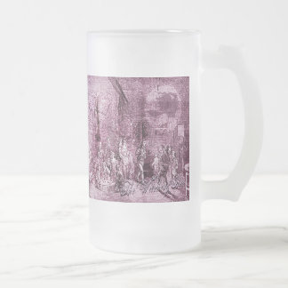 The Witching Hour Frosted Glass Beer Mug