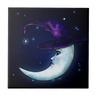 The Witching Moon Small Square Tile