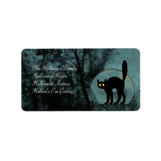 The Witch's Cat Custom Address Labels