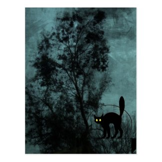 The Witch's Cat Post Card