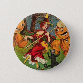 The Witch's Dance - Vintage Halloween Button