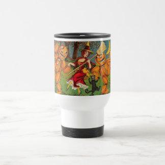 The Witch's Dance - Vintage Halloween Travel Mug