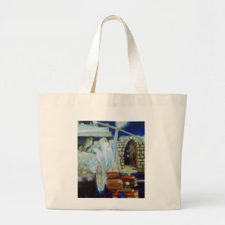 The Wizard Empowered  CricketDiane Art & Design Large Tote Bag