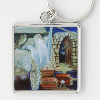 The Wizard Empowered  CricketDiane Art & Design Silver-Colored Square Keychain