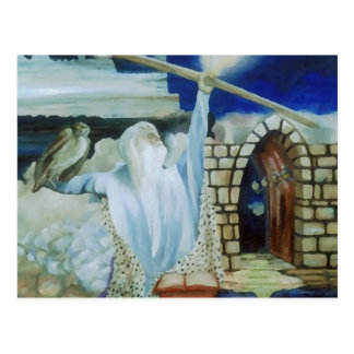 The Wizard Lighting the Night Sky with Power Postcard