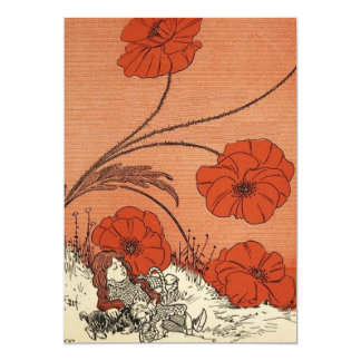 The Wizard of Oz Dorothy and Toto in the Poppies 5x7 Paper Invitation Card