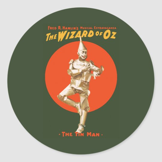The wizard of Oz Musical Extravaganza Classic Round Sticker