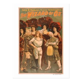 """The wizard of Oz"" Musical Theatre Poster #1 Postcard"