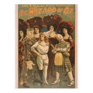 The Wizard of Oz Retro Theater Postcard