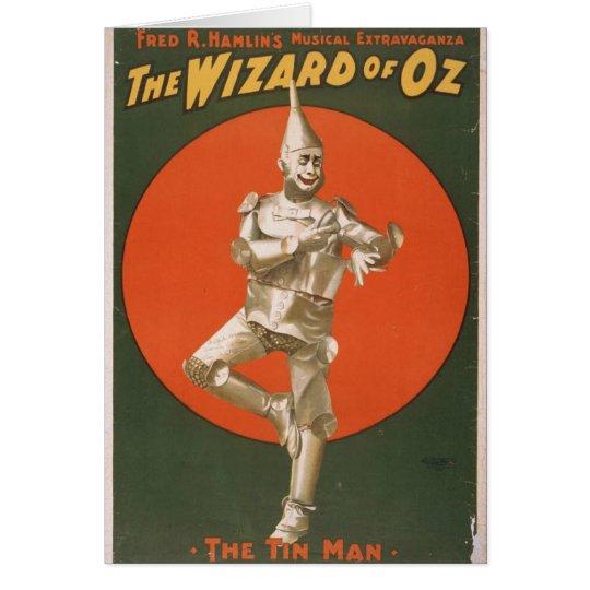 The Wizard of Oz, 'The Tin Man' Retro Theater Card
