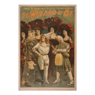The Wizard of Oz Vintage Musical print