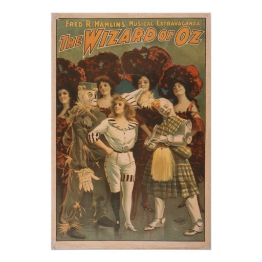 The Wizard of Oz Vintage Musical Poster