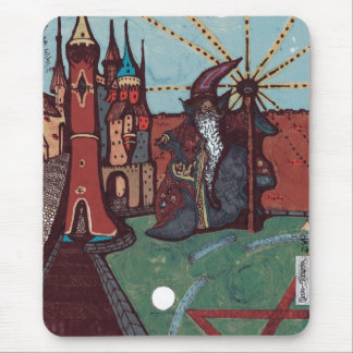 The Wizard & The Tower; Some Like It Dark Mouse Pad