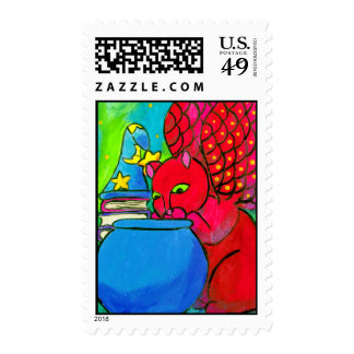 The Wizard's Cat Postage Stamp