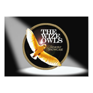 """The Wize Owls 5"""" X 7"""" Invitation Card"""