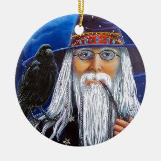 The Wize Wyzard Ceramic Ornament
