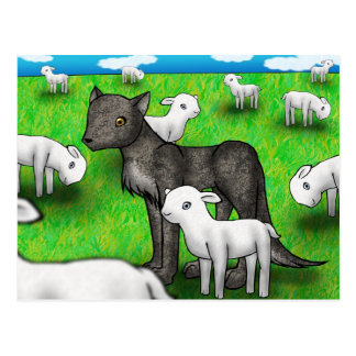 """""""The Wolf and the Lamb"""" Postcard"""