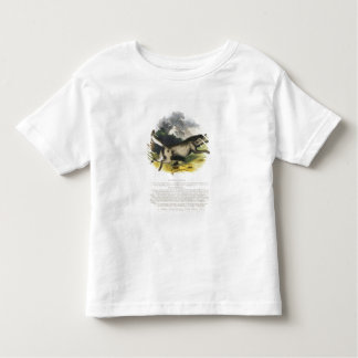 The Wolf (Canis lupus) educational illustration pu Toddler T-shirt