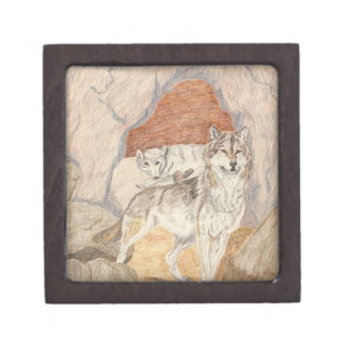 The Wolf Couple Jewelry Box