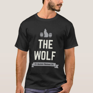 The Wolf Groom's Bachelor Crew Matching Party T-Shirt
