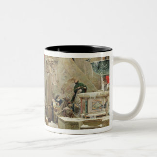 The Wolf of Gubbio, 1877 Two-Tone Coffee Mug