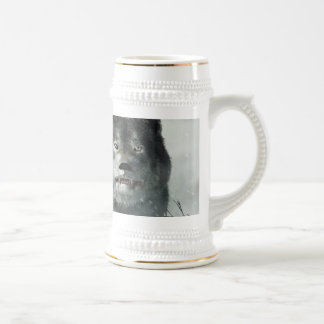 The Wolf of Winter Beer Stein