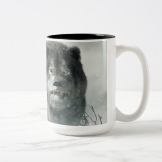 The Wolf of Winter Two-Tone Coffee Mug