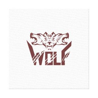 The Wolf Pack Head Retro Canvas Print