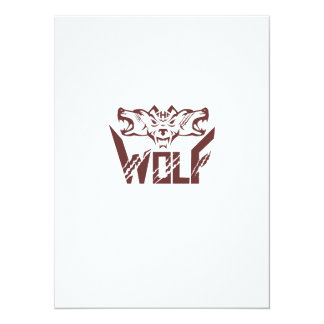 The Wolf Pack Head Retro Card