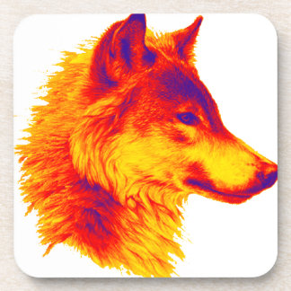 THE WOLF PAUSE DRINK COASTER