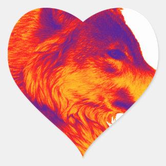 the WOLF shadows Heart Sticker