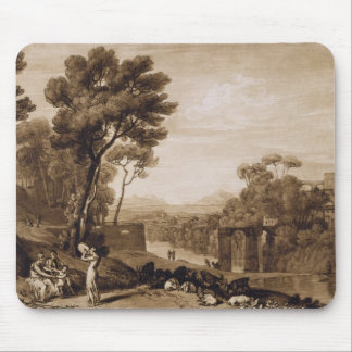 The Woman and Tambourine, engraved by Charles Turn Mouse Pad