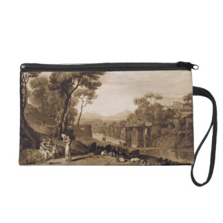 The Woman and Tambourine, engraved by Charles Turn Wristlet Purse