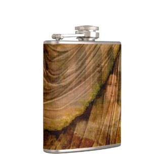 The Woman Behind the Curtain Flasks