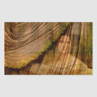 The Woman Behind the Curtain Rectangular Sticker