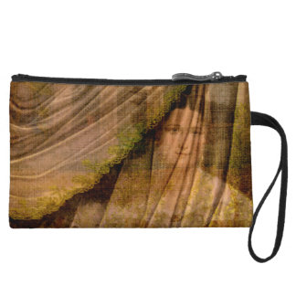 The Woman Behind the Curtain Wristlet Clutch