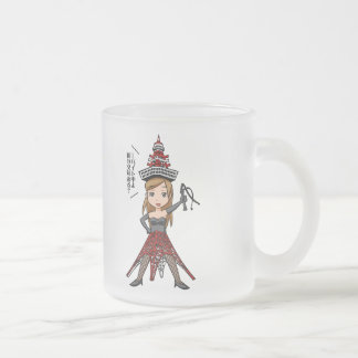 The woman English story, Minato Tokyo Yuru-chara a Frosted Glass Coffee Mug